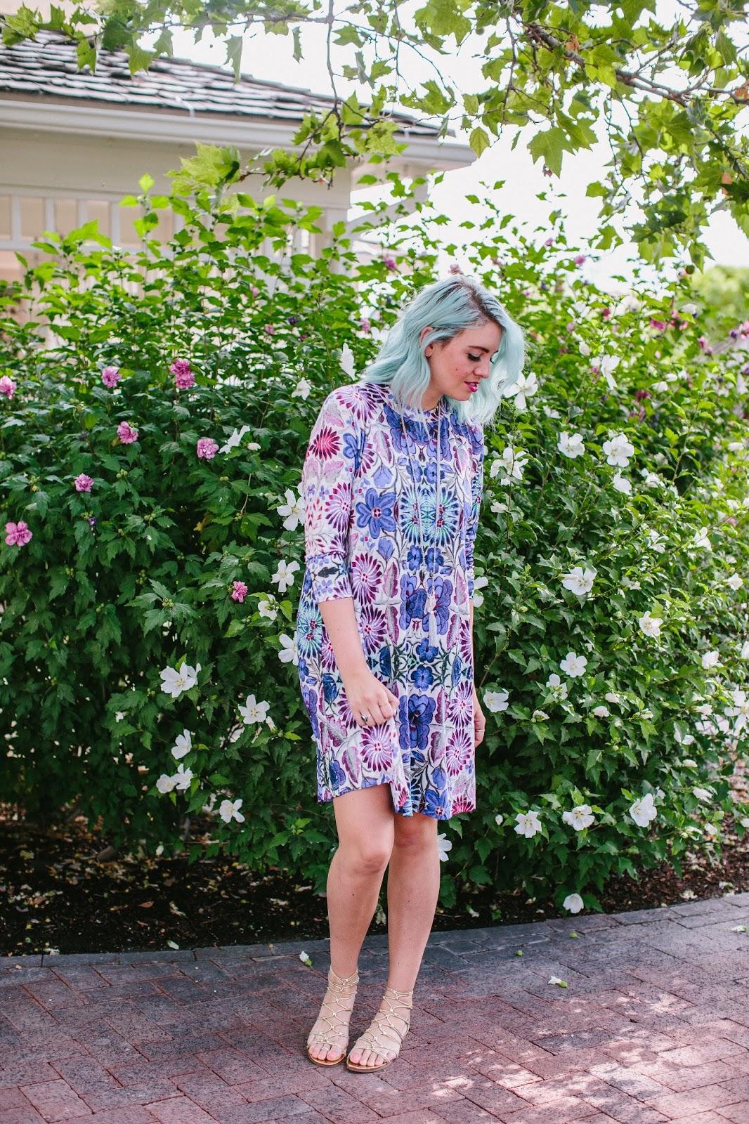 Blue Hair, Summer Dress, Utah Fashion Blogger