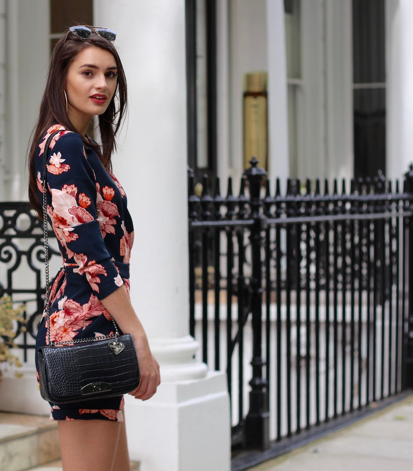 florals spring playsuit street style