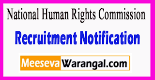 National Human Rights Commission Recruitment Notification 2017 Last Date 20-06-2017