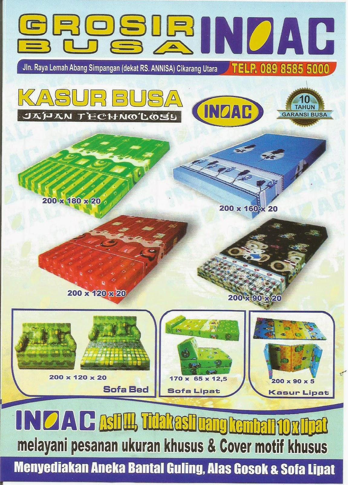 harga sofa bed inoac cikarang mahjong preis kasur busa bekasi aneka produk foam