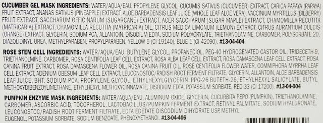Peter Thomas Roth Rose Stem Cell, Pumpkin Enzyme, Cucumber Gel Mask, Ingredients, Inhaltsstoffe