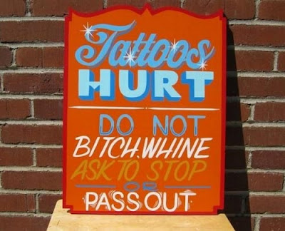 Funny Signs Tattoos