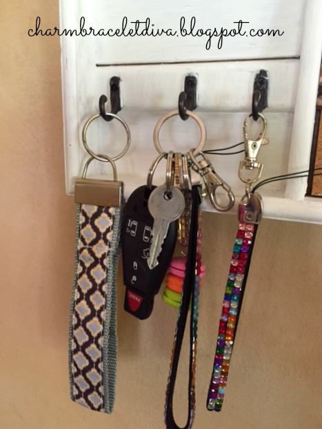 memo board with key hooks