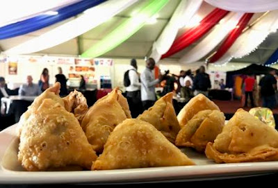 Samoosas at Festival of India