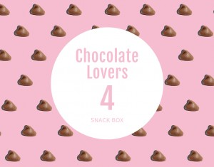 Chocolate Lovers, 4 Snack Pack