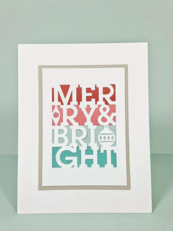 Close To My Heart Artfully Sent Cricut cartridge Simple Christmas card!