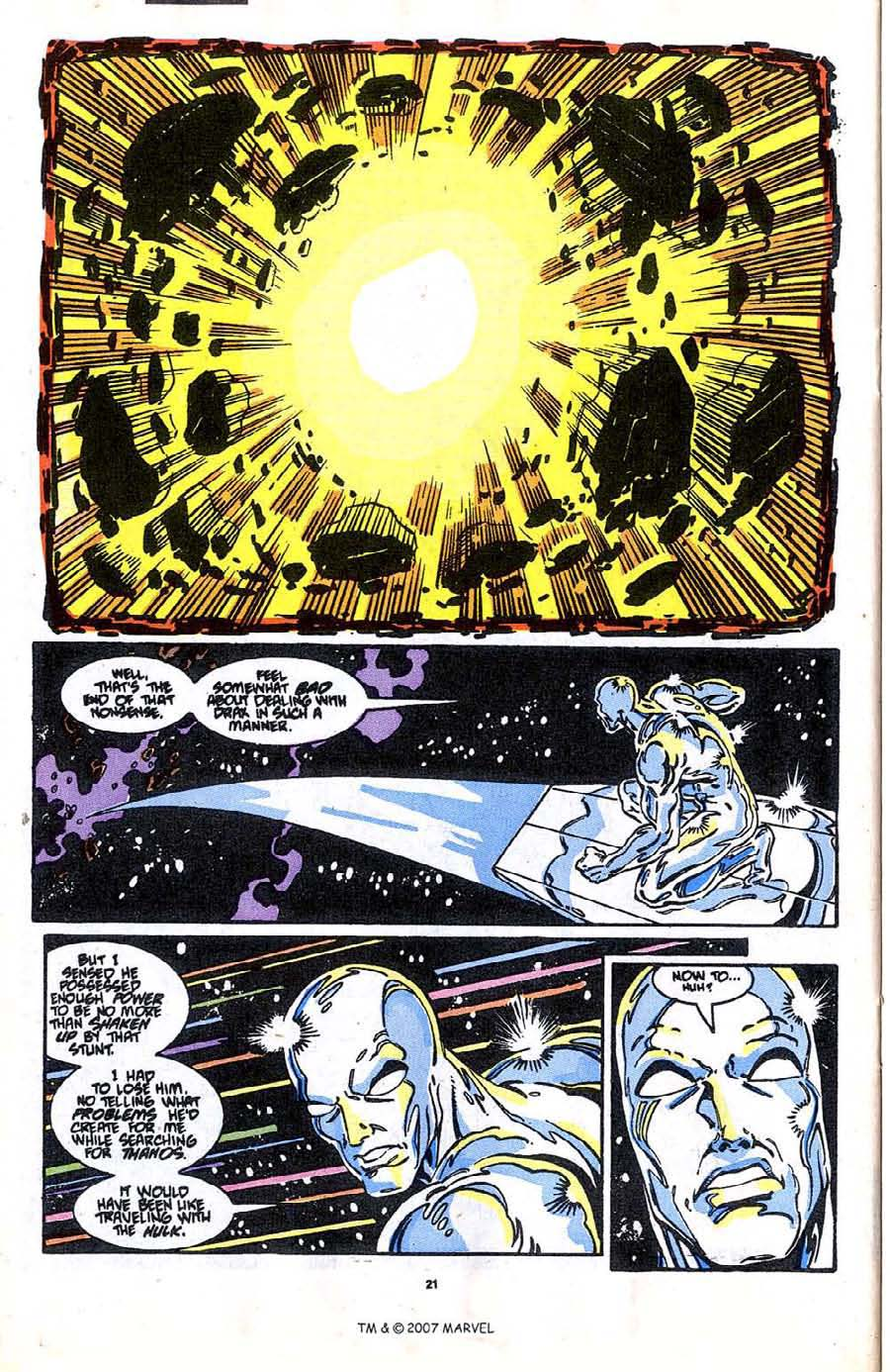 Read online Silver Surfer (1987) comic -  Issue #37 - 22