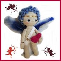 Cupido amigurumi patrón gratis
