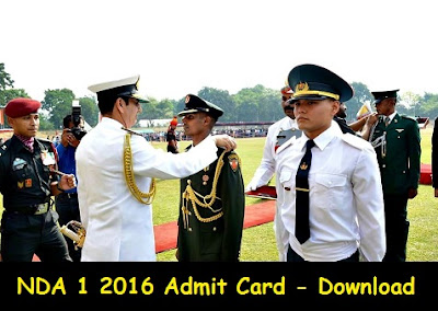 NDA 1 2016 Admit Card - Download