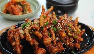 Ceker Ayam Pedas Khas Korea