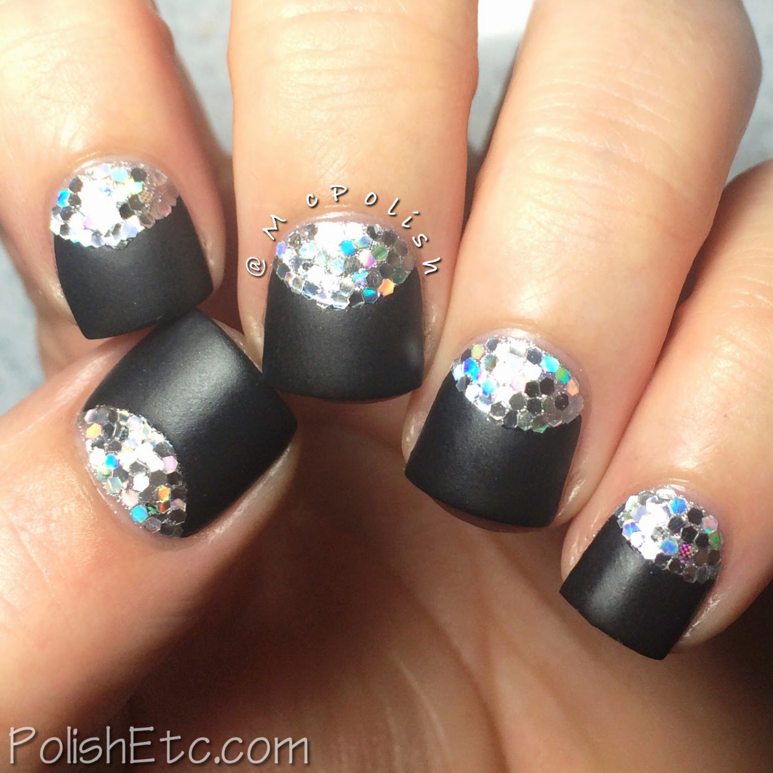 31 Day Nail Art Challenge - #31dc2014 - McPolish - HALF MOON