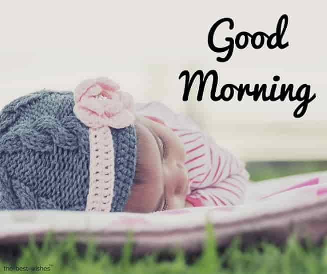 good morning with a baby photos wallpapers