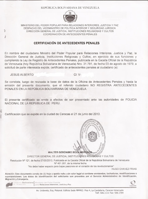 Antecedentes Penales Foro Quito