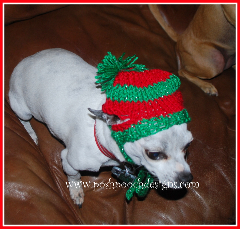 Posh Pooch Designs Dog Clothes Christmas Stocking Dog Hat Knitting