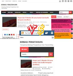 Gambar Home Template Berbagi Pengetahuan Mobile vs Desktop