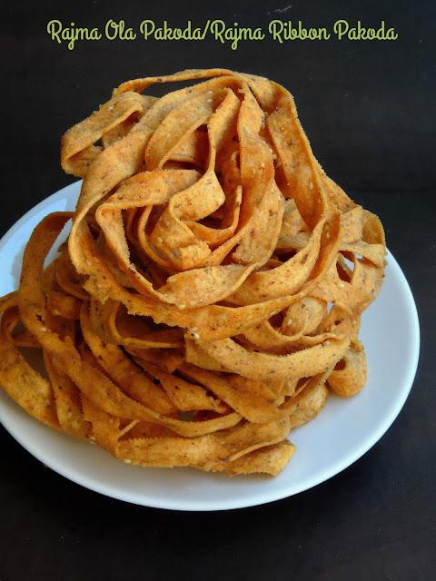 Rajma Ola Pakoda,Rajma Ribbon Pakoda