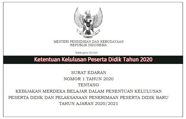 gambar surat edaran nomor 1 tahun 2020