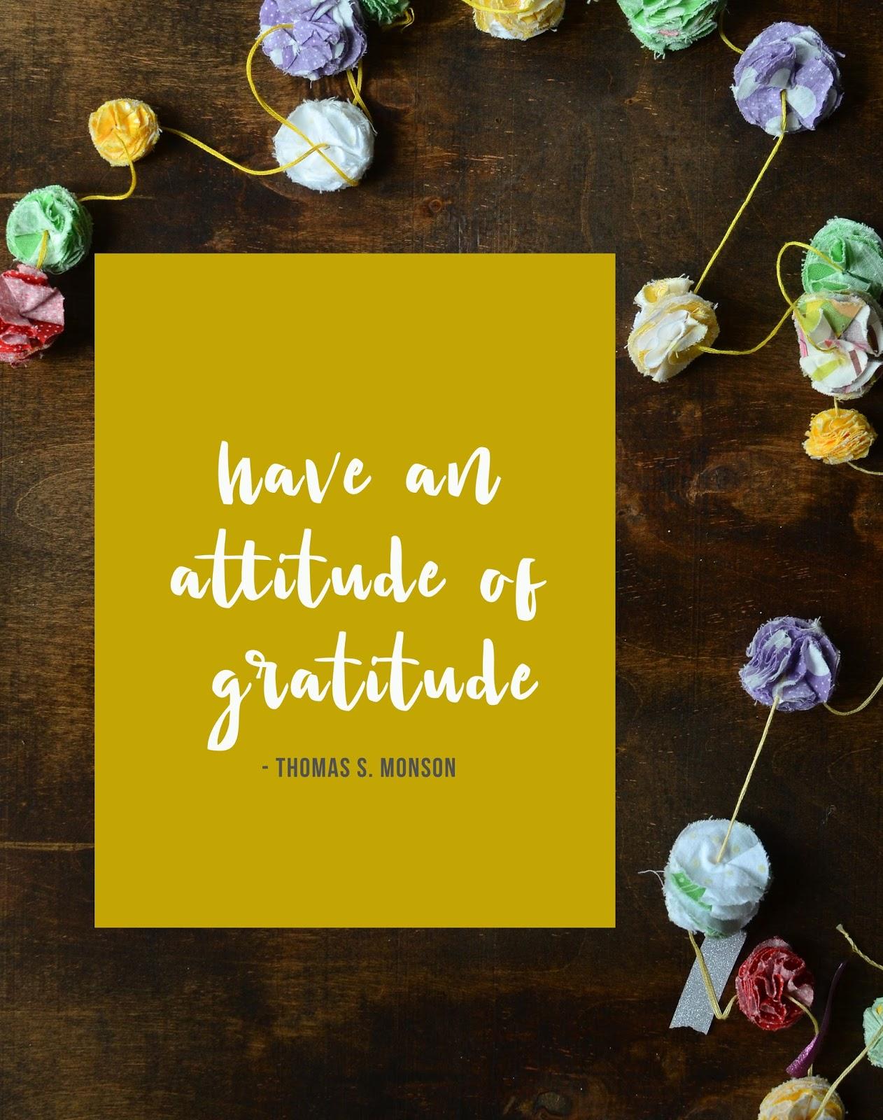 Attitude Of Gratitude Free Printable