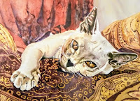 Cat Painting by Caroline Van Rensburg