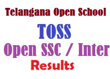 TOSS - Telangana Open SSC Inter Results