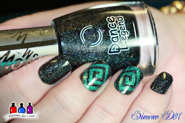 Dance Legend, Marca Preferida, Wow Prism Collection, Holy Diver, Gothic Veil, Verde, Preto, Holográfico, Holographic, Green, Black, Alquimia das Cores, Mony D07, esmaltes nail polish