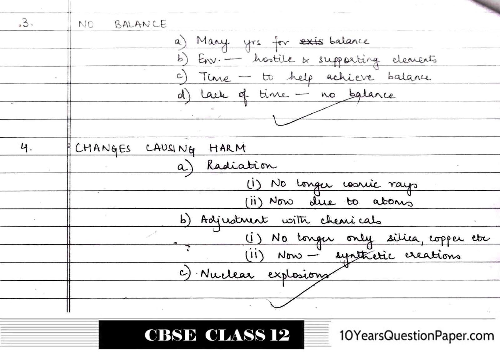 cbse class 12th English Core Topper answer sheet
