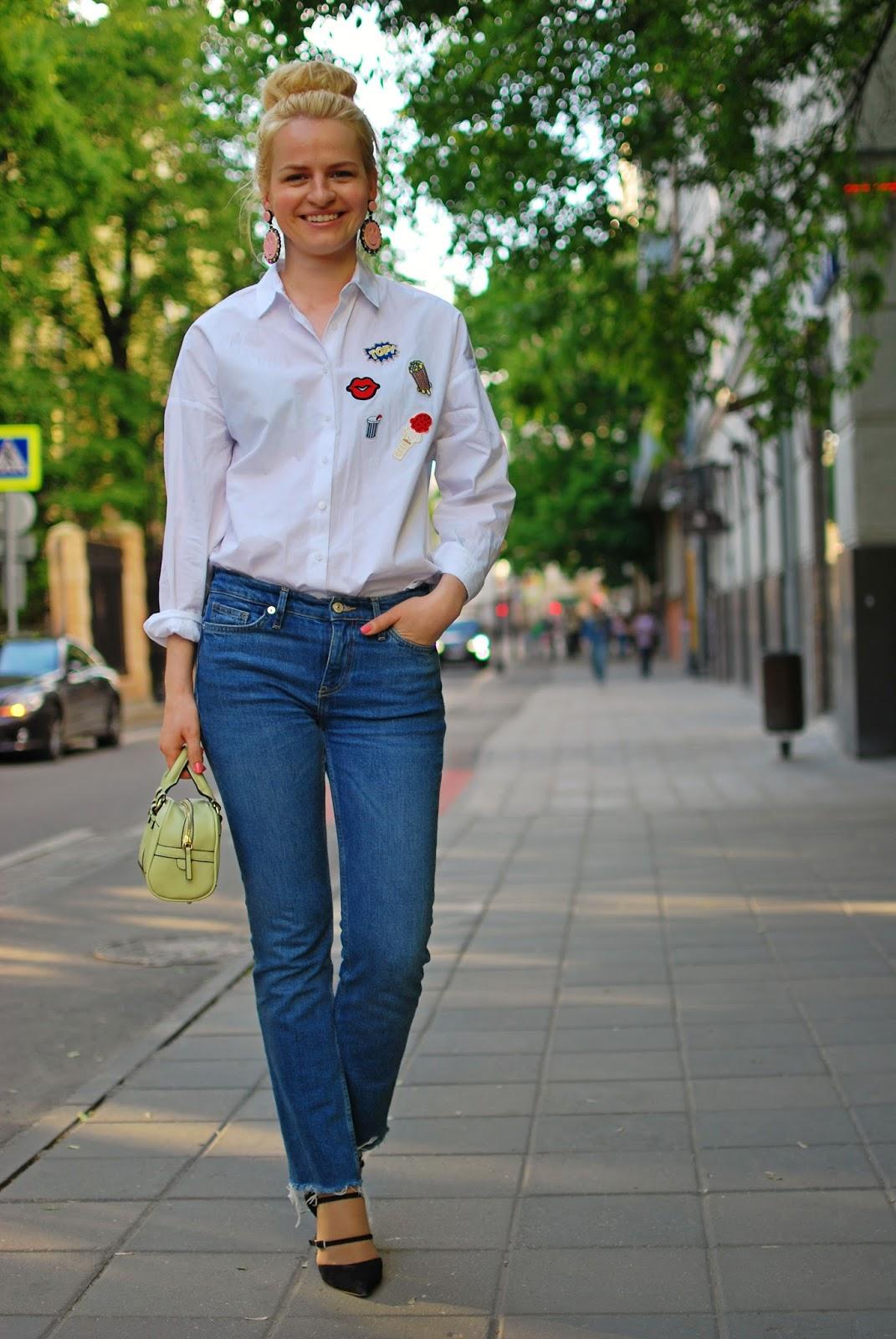 модные луки 2016 весна, с чем носить джинсы с рваным краем, блог коста де ла мода