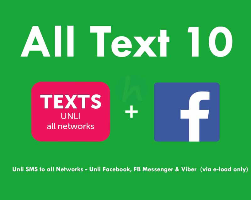 Smart AT10 or All Text 10 – Unli FB + Text to All Networks