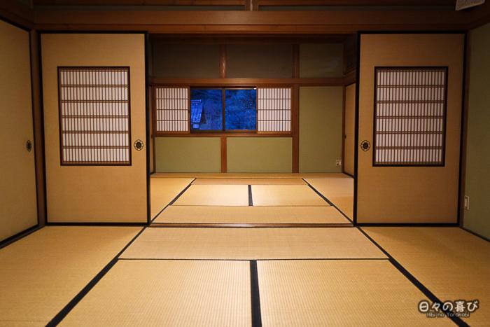 Cloisons coulissantes, maison Ishitani, Chizu, Tottori