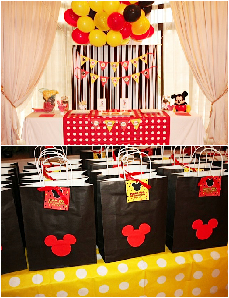 A Retro Mickey Inspired Birthday Party - via BirdsParty.com