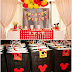 Details for a Mickey Mouse Party Decorated with Yellow, Red and Black Colours. Instructions.