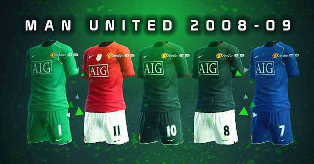 Manchester United 2008-09 Kit PES 2013