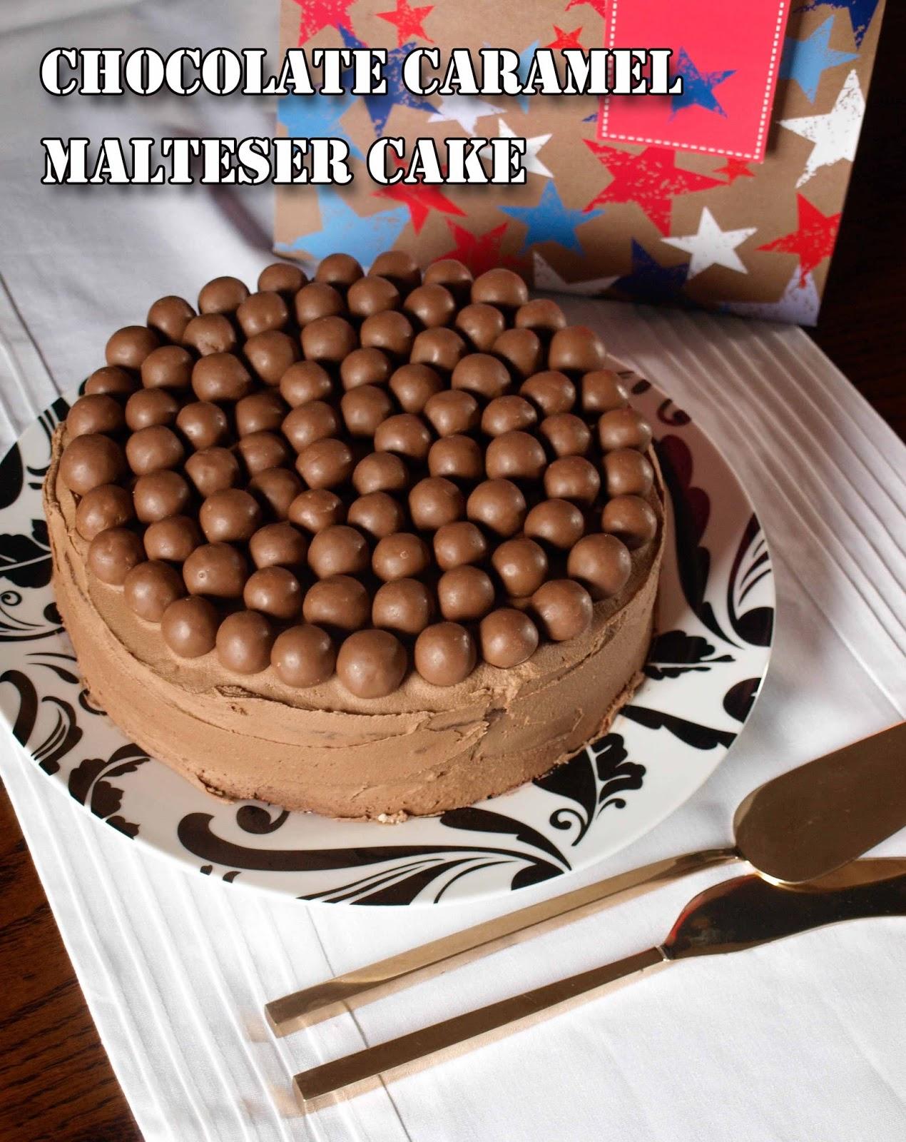 Chocolate Caramel Malteser Cake Farmersgirl Kitchen