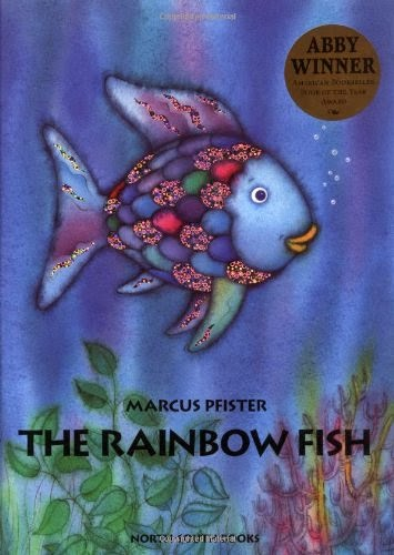 The Rainbow fish by Marcus Pfister, included in a book review list of ocean books for preschoolers