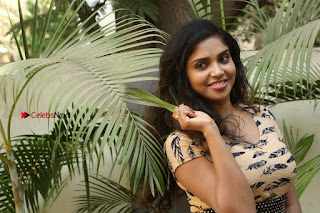 Telugu Actress Karunya Chowdary Stills in Short Dress at ATM Not Working Press Meet  0335.jpg