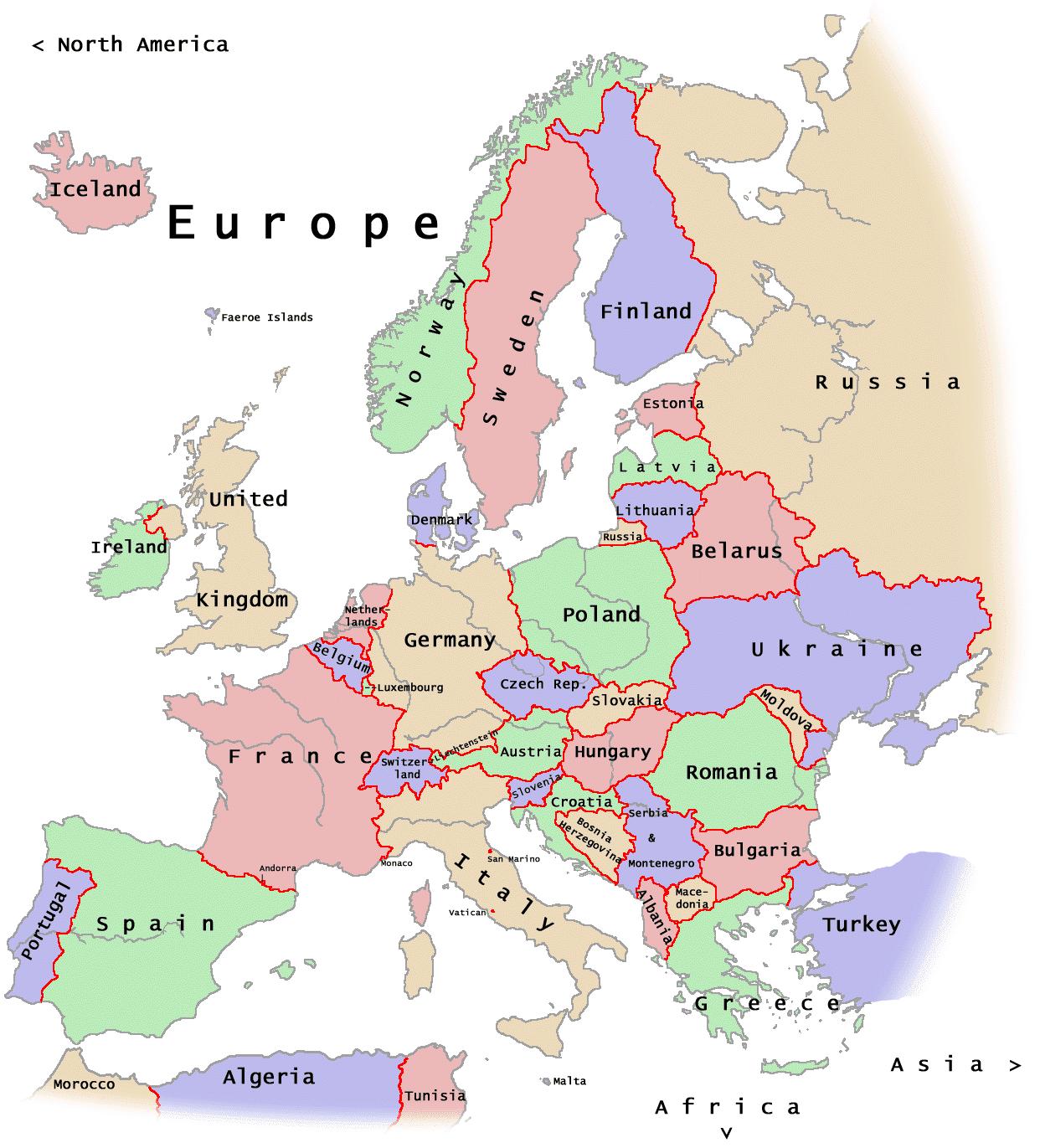 Juego Mapa Interactivo De Europa.Mapa De Europa Politico Interactivo Detraiteurvannederland
