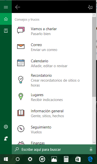 Cómo aprovechar Los Comandos del asistente Cortana windows 10