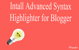 Intall Syntax Highlighter for Blogger