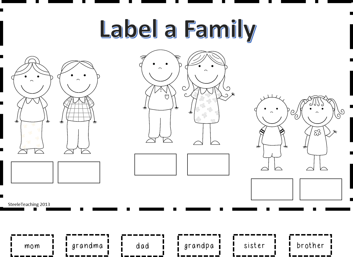 Workbooks it family worksheets : Worksheet For Kindergarten Family: Teaching word families. Free ...