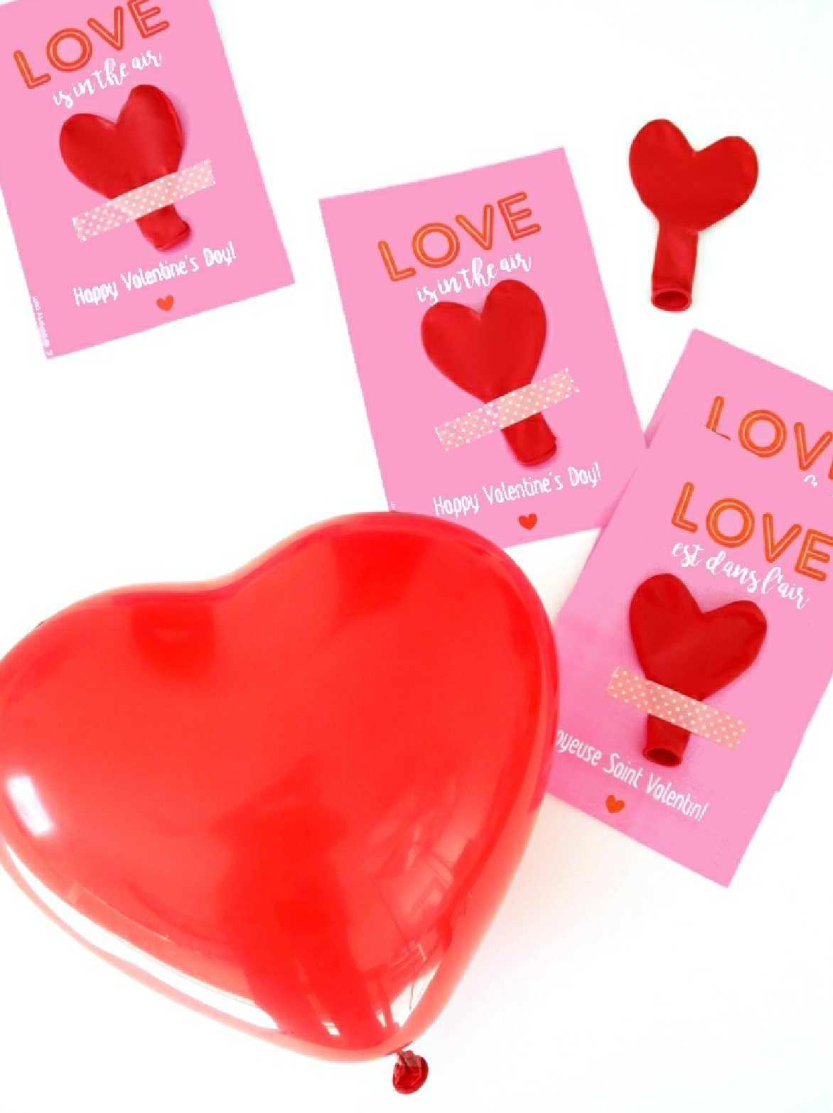 DIY Valentine's Balloon Party Favors with Free Printables