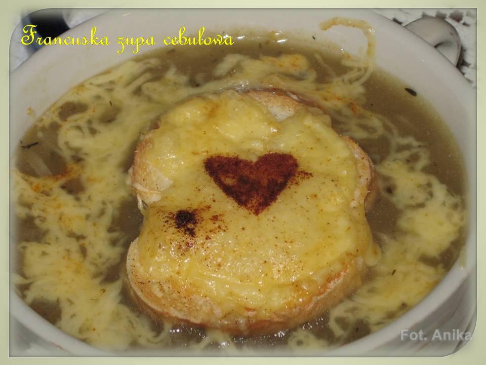 Domowa Kuchnia Aniki Francuska Zupa Cebulowa Zapiekana
