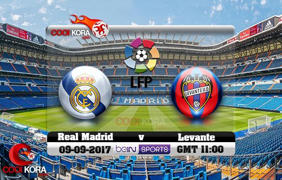 مشاهدة مباراة ريال مدريد وليفانتي اليوم 9-9-2017 في الدوري الأسباني