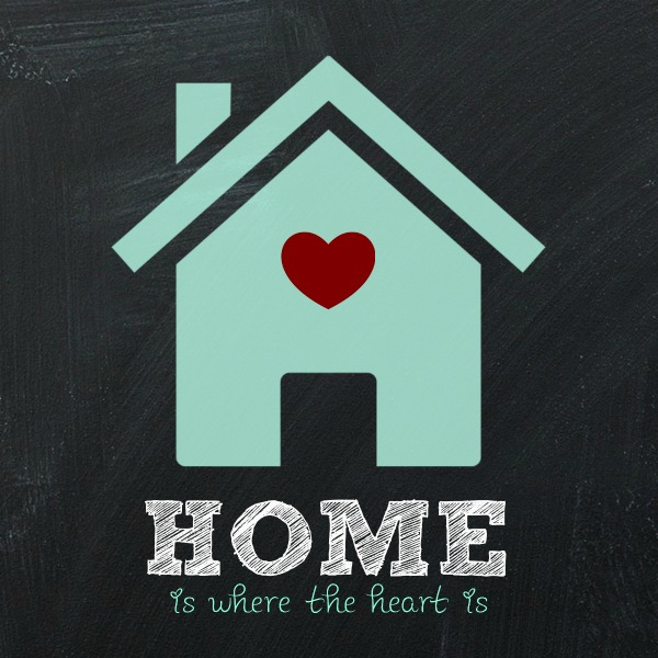 Home is where the heart is free printable at DIY beautify
