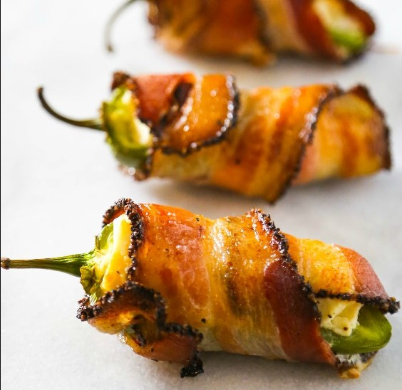 BACON WRAPPED JALAPENO POPPER APPETIZER RECIPE #dinner #appetizers
