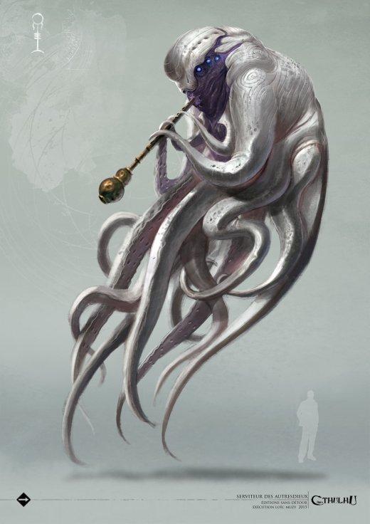 Loïc Muzy arte ilustrações fantasia terror horror monstros lovecraft cthulhu