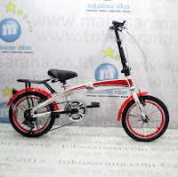 Sepeda Lipat Totoron 6 Speed 16 Inci