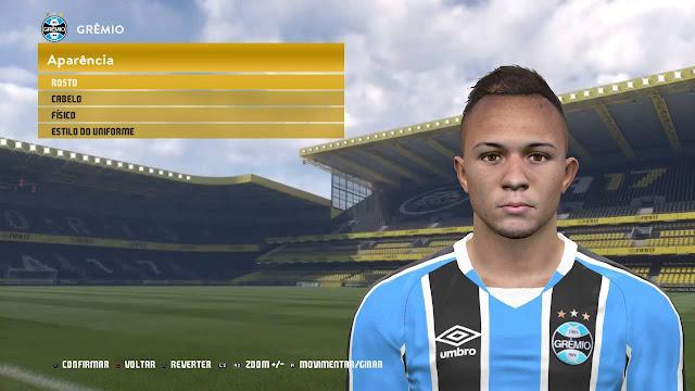 PES 2017 Everton Soares (Grêmio) Face by Lucas Facemaker