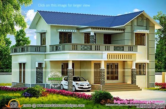 Kerala style villa architecture