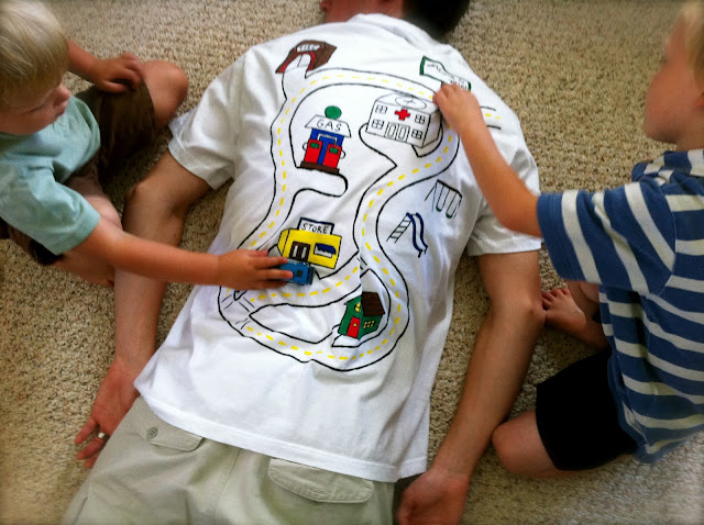 DIY car track shirt