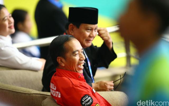 Survei LSI: Elektabilitas Jokowi-Ma'ruf Amin 57,7%, Prabowo-Sandiaga 28,6%